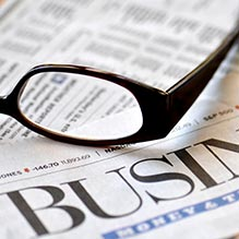 Business Paper and Glasses Pic to Represent News